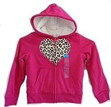 Girl39s Hoodie Sweatshirt Jacket Lined Warm Hot pink Leopard S M L