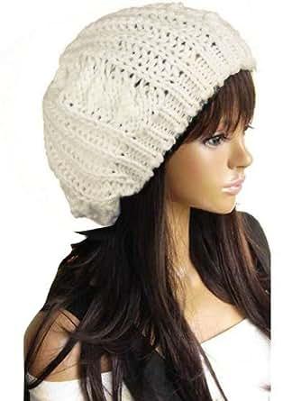 New Winter fashion Women Beret Braided Baggy Beanie Crochet Knitted Hat Cap