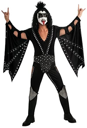 Kiss Deluxe The Demon Costume, Black, X-Large