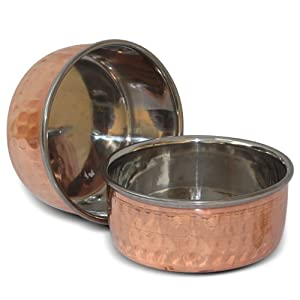 Amazon.com: Indian Copper Bowls Small Handmade Tableware: Kitchen ...