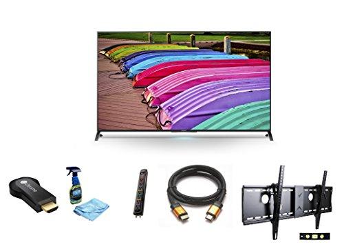 "Sony Xbr70X850B 70-Inch 4K Ultra Hd 120Hz 3D Led Tv + Google Chromecast Hdmi Streaming Media Player + 3M High Speed Orange Gold Hdmi Cable For 2160P, 3D, And 4K + Focus 32""-70"" Tv Bracket Mount With 165 Lbs Capacity + Monster Surge Protector With 7 Ac Out"