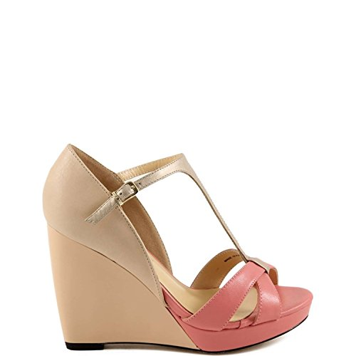 Twin-set Simona Barbieri CPS3BC Sandalo Donna Pelle Rosa Rosa 35