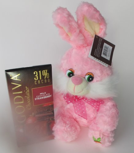 Pink Easter Bunny  3.5 oz Strawberry Milk Chocolate