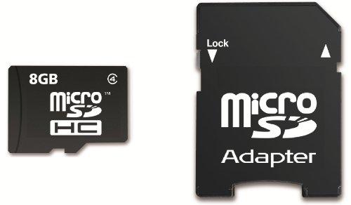 Memzi Flash-Speicherkarte (8 GB, Class 4 Micro SDHC Speicherkarte mit SD-Adapter für Sony Action Cam Series Digital Camcorder