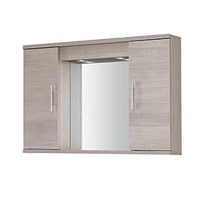 Specchiera mobile bagno arredo design moderno due ante luce illuminazione 606043 - Specchiera bagno amazon ...
