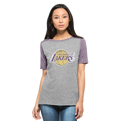 NBA Los Angeles Lakers Women's '47 Empire Tee, Vintage Grey, Large (Vintage Nba Shirts compare prices)