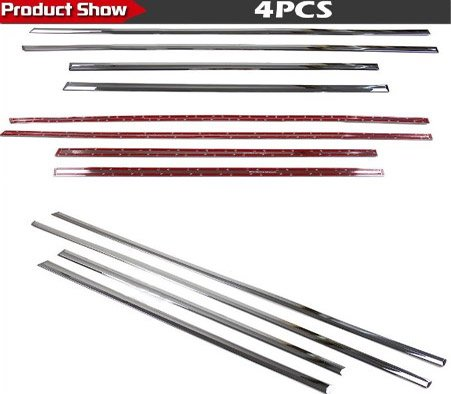 Auto Chrome Body Door Side Molding Trim Stainless Steel 4pcs Fit For 2009 2010 2011 2012 2013 Dodge Journey