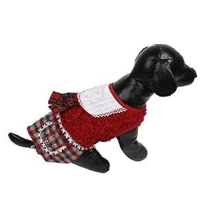 Hiver Chihuahua Bowtie Décor Habillement Habillement Chien Chat robe
