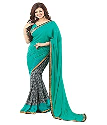 My online Shoppy Georgette Saree (My online Shoppy_23_Sky Blue)