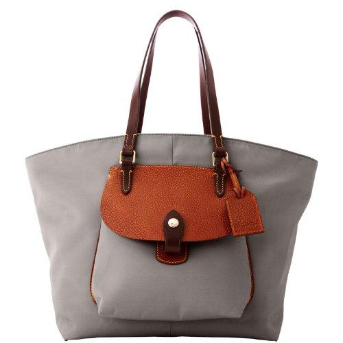Dooney & Bourke Nylon Pocket Shopper, Grey