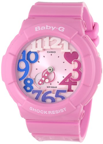 Casio Women's BGA-131-4B3CR Baby-G Analog Display Quartz Pink Watch