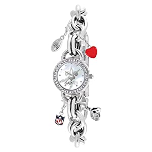 Ladies NFL New Orleans Saints Charm Watch by Jewelry Adviser Nfl Watches