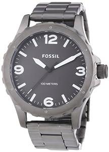 Fossil Men's JR1457 Nate Dark Grey Stainless Steel Watch