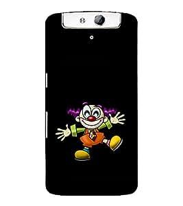 printtech Joker Clown Back Case Cover for Oppo N1
