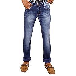 Hasasi Denim Men's Regular Fit Jeans - IBU30053-Jeans-Blue-32