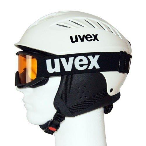Uvex X-Ride Junior Set - Skihelm & Skibrille (white, xxs-s (51-56 cm)