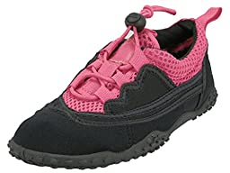 Easy USA Youth Water Shoes (4 M US Little Kid, Fuschia/Black)