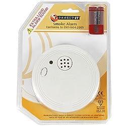 EUROSONIC Ionisation Smoke/Fire Alarm With Batteries Eurosonic Branded Uk Product by EUROSONIC