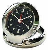 Bai Diecast Solid Metal Travel Alarm Clock, Futura Black
