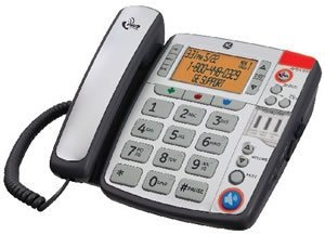 GE 29579BE1 Amplified Corded Phone for Moderate-Severe Hearing Loss with Large Buttons & Caller ID