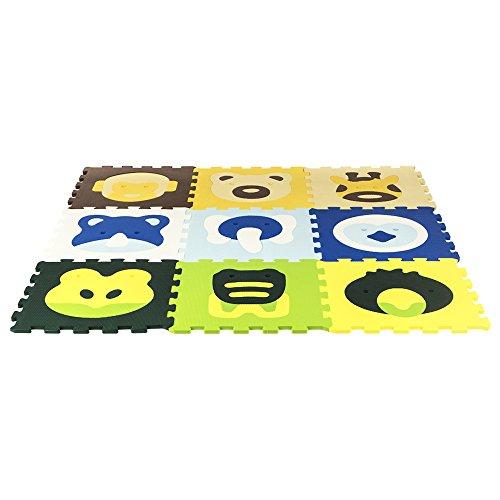 ColorBaby - Alfombra puzzle animals, 50 piezas, 126 x 126 cm (43163)