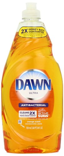 Dawn Ultra Concentrated Orange Scent Antibacterial Dishwashing Liquid 24 oz (037000222064)