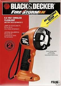 Black And Decker Firestorm Fsl96 9 6v Flashlight