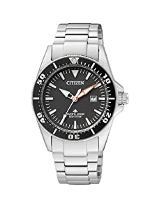 Citizen Damen-Armbanduhr XS Promaster Sea Eco-Drive Diver Analog Edelstahl EP6040-53E