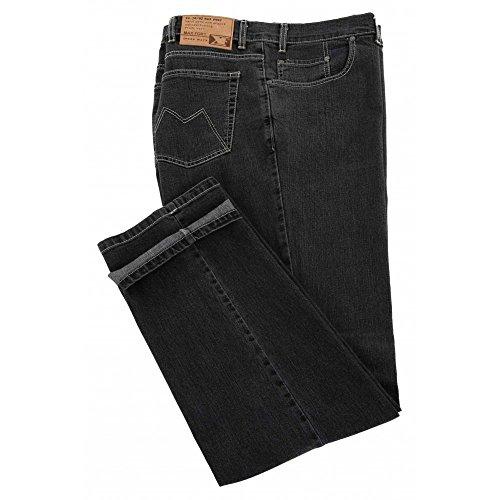 Jeans Maxfort sw Black taglie forti uomo - Nero, 64 GIROVITA 128 CM