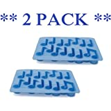 Kikkerland Cool Tunes Ice Trays ** 2 PACK **