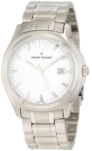 Claude Bernard Men's 70156 3 AIN Classic Gents White Dial Stainless Steel Date Watch