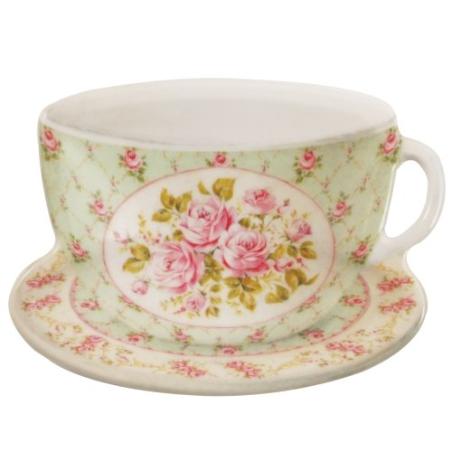 French Roses Cup & Saucer Tea Bag Cozy Set
