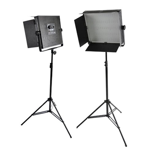Cowboystudio Two 1200 Led Banks And Light Stands Kit, With Dimmable Photography Video Studio Led Lighting Light Panel