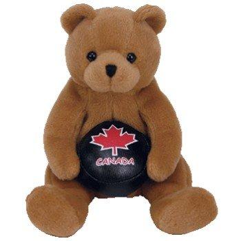 TY Beanie Baby - DEKE the Hockey Bear (Canada Exclusive)