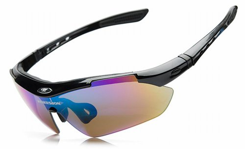 RSRB/UV400 / sport Sunglass / sunglasses /REGEASS LED carabiners mini light & sunglasses set [with REGEASS japan warranty statement] (mini light + black)