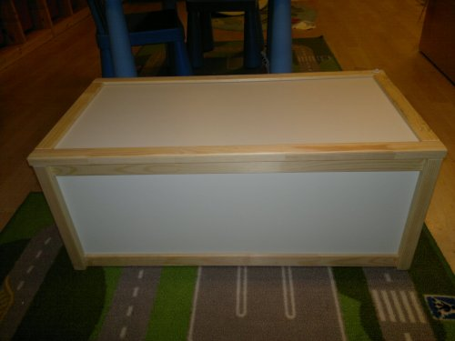 Ikea Wooden Storage Box - Toy Box - Pine and White