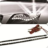 Flexible Waterproof Daytime Running White Xenon Look Super Bright LED Strip Lights for Hyundai i10 (2007 Onwards) - Come as a Pair