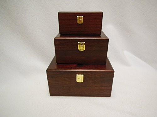 TR011 Solid Paulowina Wood Cremation Urns,Brown Color (35 Cubic In.)