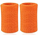 Kagogo 6 Inch Long Thick Cotton Sports Wristband / Sweatband For Basketball Tennis And Other Sports, Price/Pair