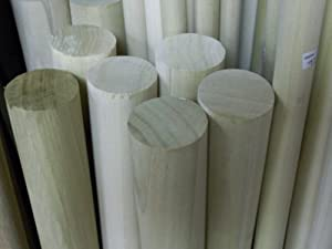"2"" X 8' Solid Poplar Wood Dowel"