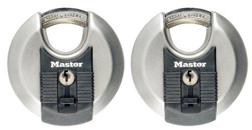 MASTER LOCK - 2er Set Disk-Schlösser mit Schlüssel für...