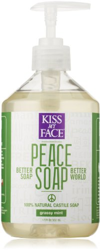 Kiss My Face Peace Soap, All Purpose Castile Soap, Grassy Mint, 17 Ounce