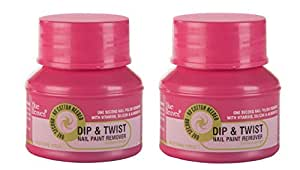 Blue Heaven Dip & Twist Nail Paint Remover , 40ml/PC, ( PACK OF 2)