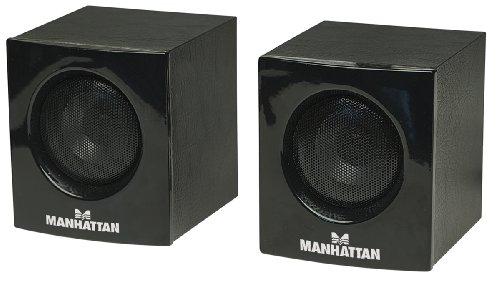 MANHATTAN 2700 Serie USB-Lautsprecher Strom und Audioeingang ueber einen USB Anchluss