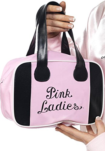[Adult Fancy Dress Costume Accessory Frenchy Rizzo 50s Pink Ladies Bowling Bag] (Frenchy Pink Ladies Costume)