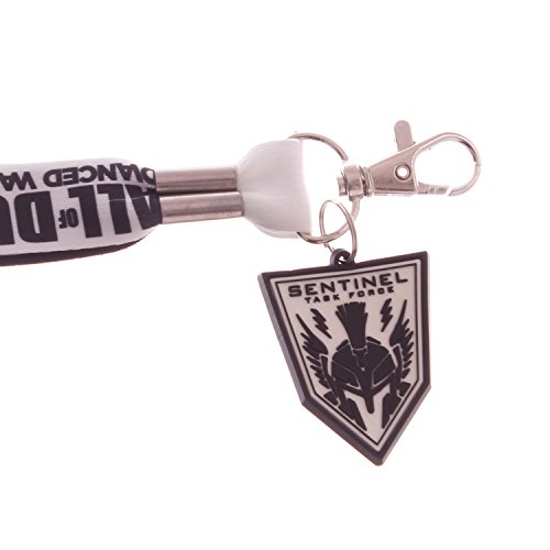 Call of Duty Advanced Warfare Lanyard Keychain w/ ID Badge Holder & Rubber Charm (Advanced Warfare Key compare prices)