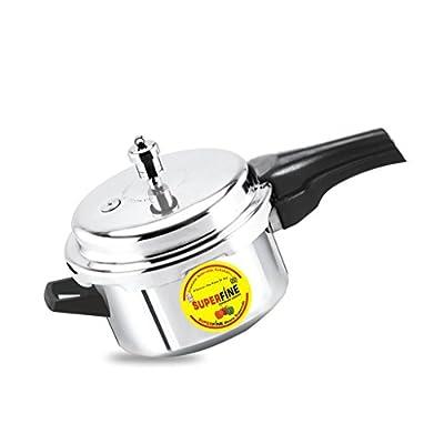 Superfine Platinum Aluminium Pressure cooker 5ltr