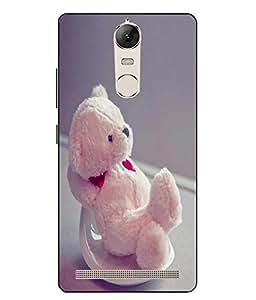 Make My Print Teddy Bear Printed Pink Hard Back Cover For Lenovo vibe K5 Note