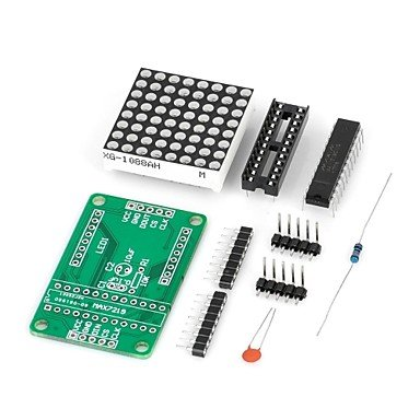Commoon Diy Max7219 Red Led Dot Matrix Display Module For (For Arduino) (Works With Official (For Arduino) Boards)