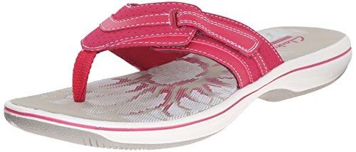 Clarks Women's Brinkley Keeley Flip Flop, Fuchsia, 7 M US (Clarks Sea Breeze Flip Flops compare prices)
